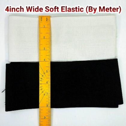"4"" WHITE SOFT ELASTIC (GETAH LEMBUT) - BY METER"