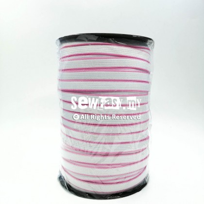 120ela 10mm Getah Garis Pink / Elastic Band Pink Edge