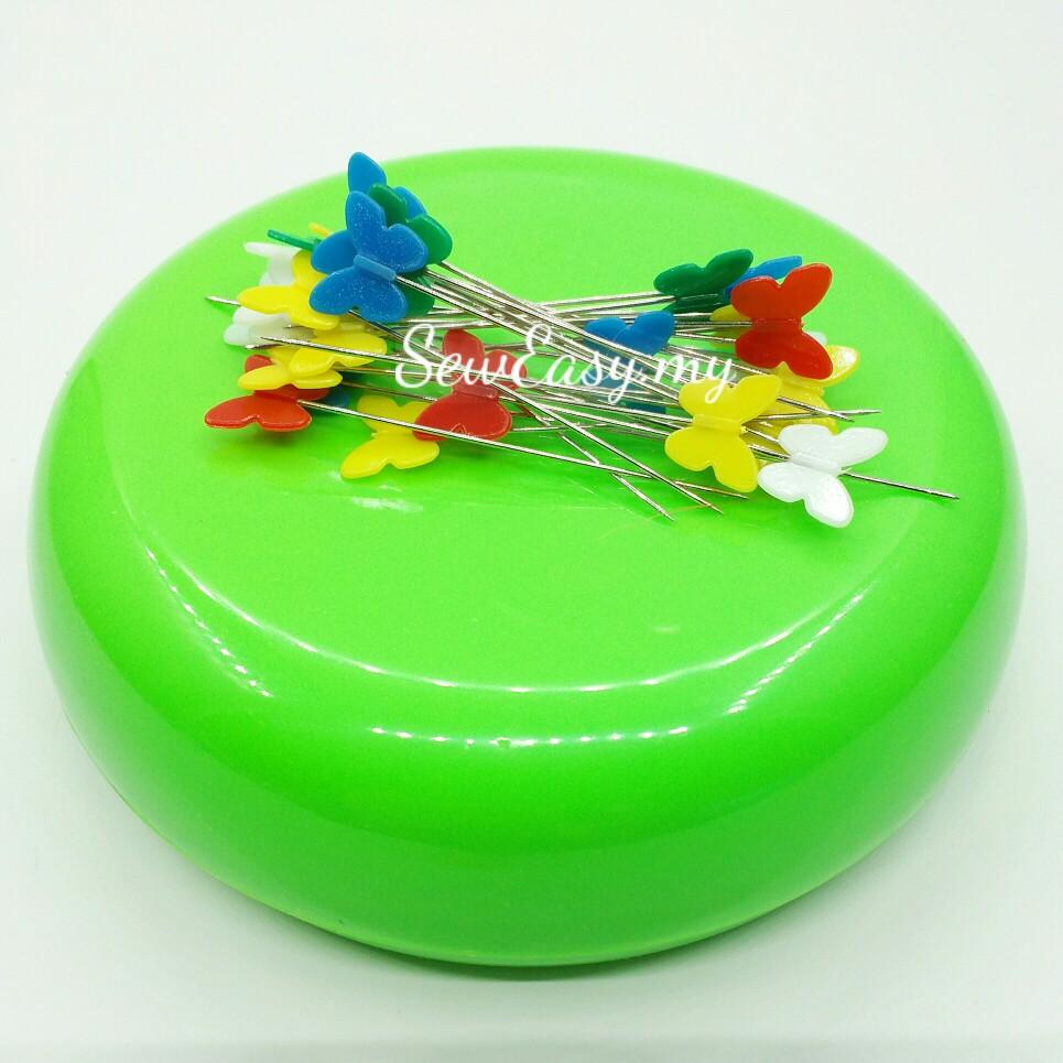 Round Shape Magnetic Pin Holder / Bekas Jarum Bermagnet
